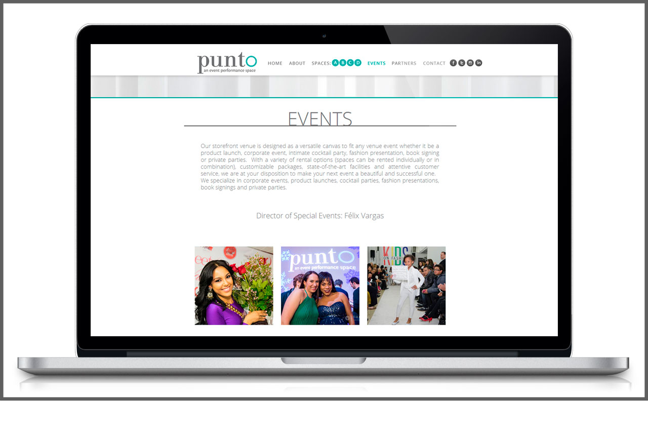 One-Page Website | Events Section