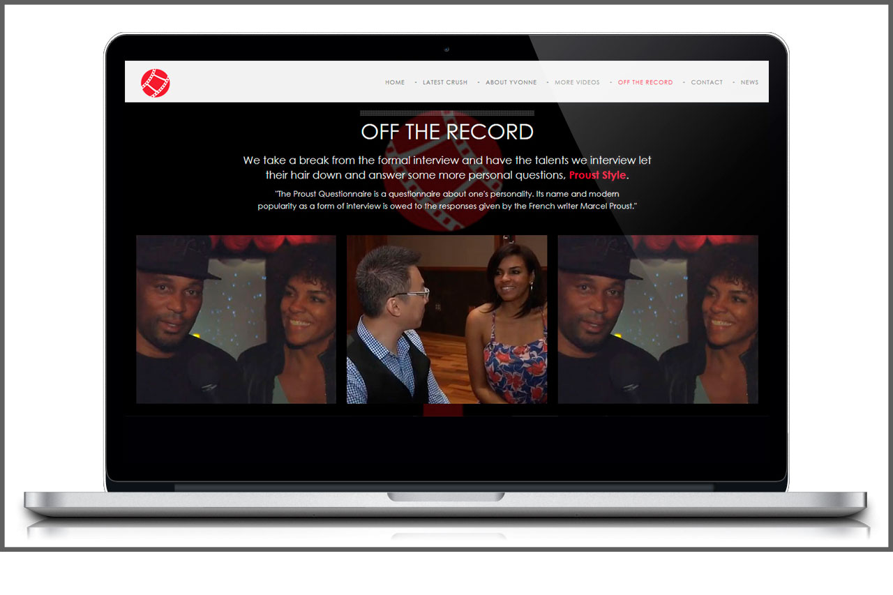 One-Page Parallax Website | Off The Record Section